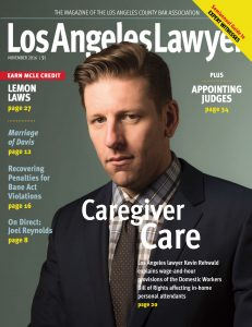 Los Angeles Lawyer November 2016